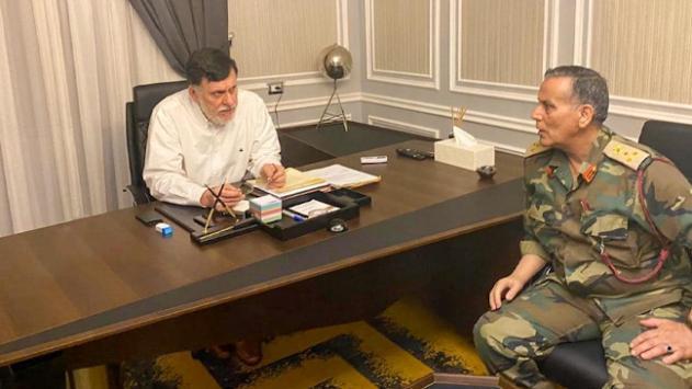 Libya Başbakanı Serrac, Sirte-Cufra Ortak Operasyon komutanıyla görüştü