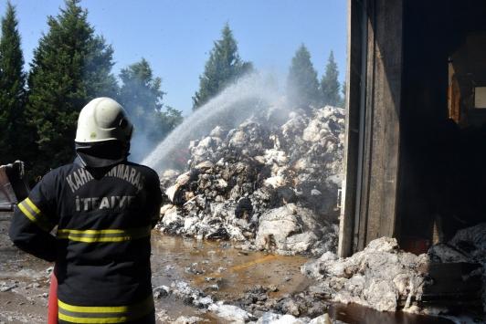 Tekstil fabrikasındaki yangın 5 saatte kontrol altına alındı