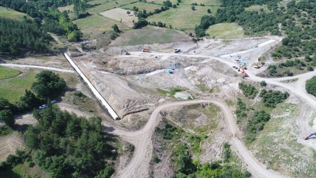 Yenice Kovancı Barajındaki çalışmalar devam ediyor