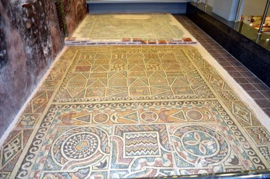 Amasyada 1800 yıllık elma ağacı motifli mozaik müzede izlenime sunuldu