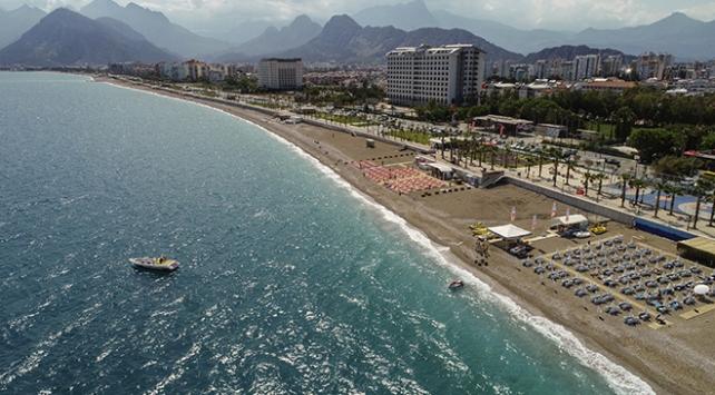 Antalyada mavi bayraklı plaj sayısı 206ya ulaştı