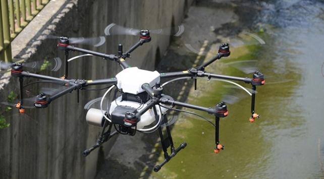 Tuzla Belediyesinden drone ile ilaçlama