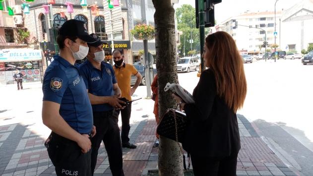 İnegölde maske takmayan 14 kişiye para cezası