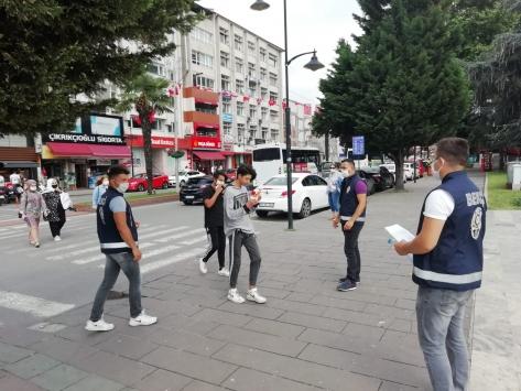 Zonguldakta maske denetimi