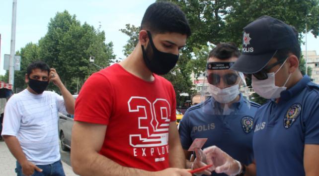 İstanbulda maske denetimi yapıldı