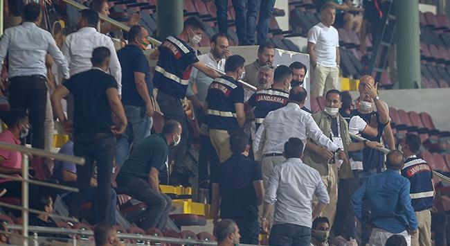 Alanyaspor-Trabzonspor maçı sonunda arbede çıktı