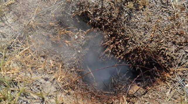 Tuz Gözü havzasında toprak altından çıkan duman şaşırtıyor