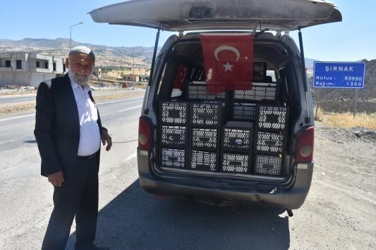 Elmacı Dede Mehmetçik için Şırnakta