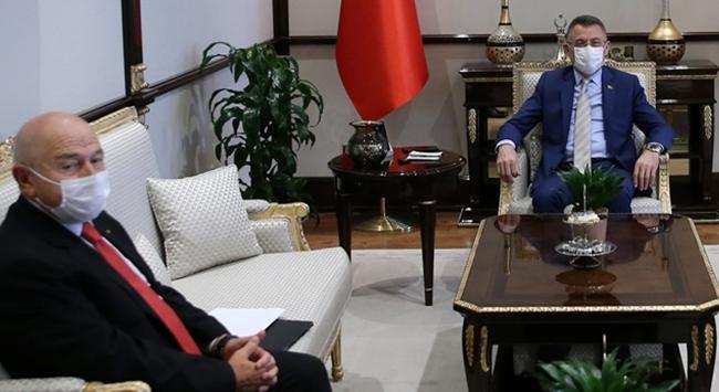 Cumhurbaşkanı Yardımcısı Oktay, TFF Başkanı Özdemiri kabul etti