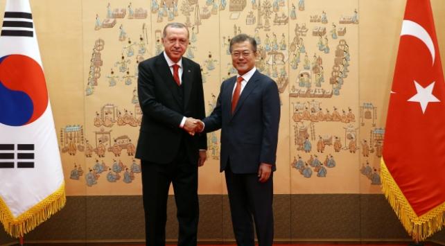 Cumhurbaşkanı Erdoğan ve Moon telefonda görüştü