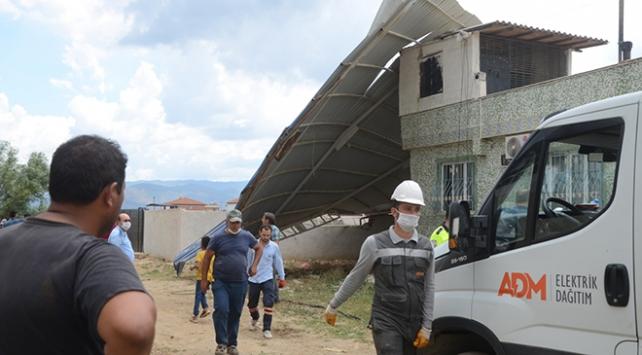 Aydındaki hortumda 20 ev hasar gördü
