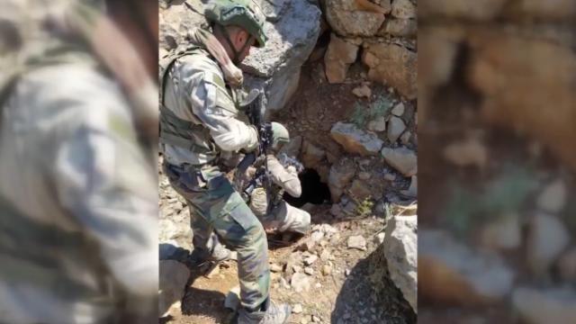 Pençe-Kaplan Operasyonu'nda 150 metrelik mağara imha edildi