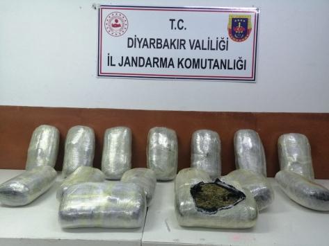 Diyarbakırda 51 kilogram esrar ele geçirildi
