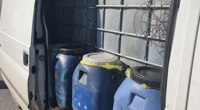 İzmirde 110 ton kaçak akaryakıt ele geçirildi
