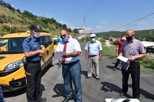 Boyabatta ticari taksiler ve servis minibüsleri dezenfekte edildi