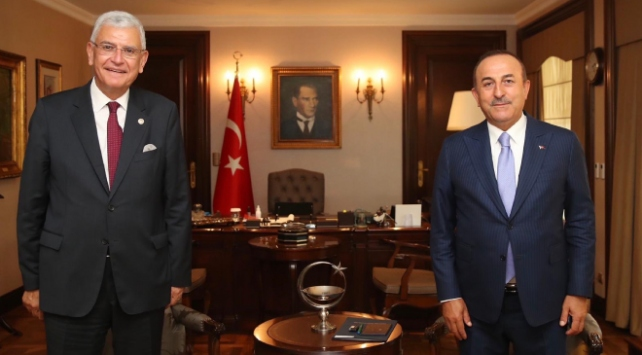 Bakan Çavuşoğlu ile BM 75. Genel Kurul Başkanı Bozkır görüştü
