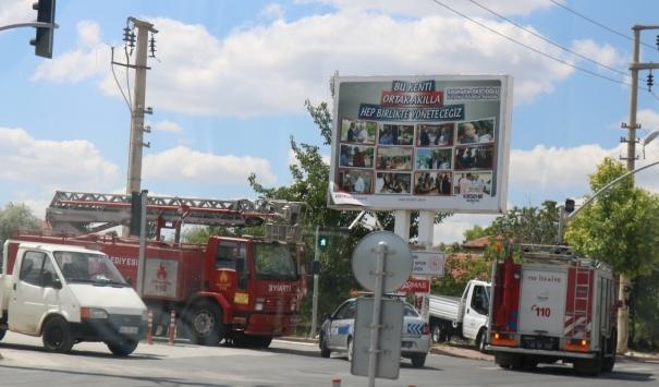 Kırşehirde akımına kapılan işçi yaralandı
