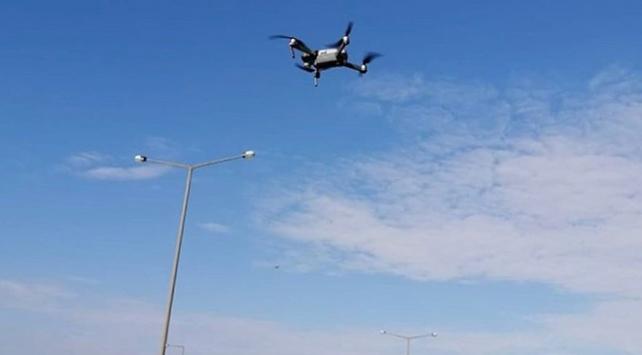 Drone tespit etti, polis ceza kesti