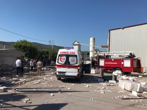 Muğlada fabrikanın buhar kazanı patladı: 1 yaralı