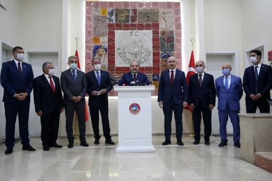 Bakanlar Akar, Varank ve Karaismailoğlu, Kayseri Valiliğini ziyaret etti