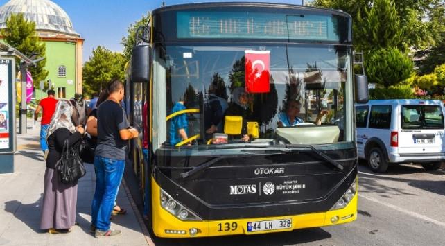 Malatyada YKSye gireceklere belediye otobüsü ücretsiz