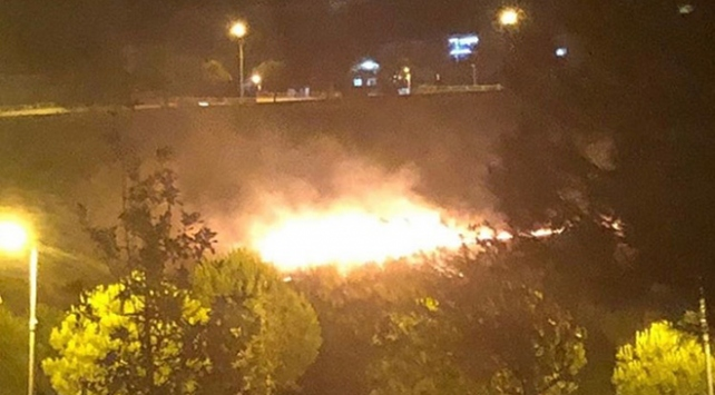 İzmirde rekreasyon alanı yakınında yangın