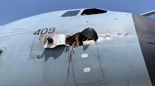 İspanyada askeri kargo uçağı acil iniş yaptı