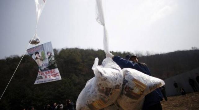 Güney Korede, Kuzey sınırında broşür dağıtmaya çalışan aktivistin ofisine baskın