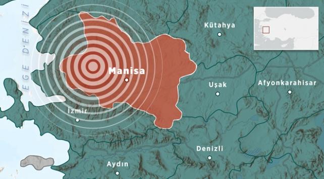 Manisada 5,5 büyüklüğünde deprem