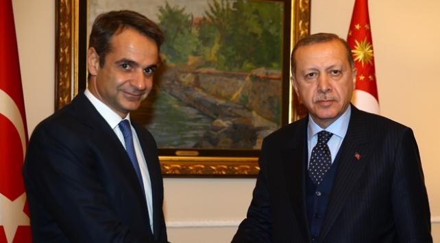 Cumhurbaşkanı Erdoğan Miçotakis ile görüştü