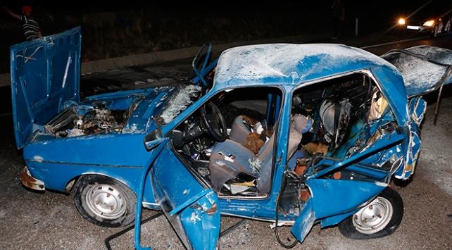 Manisada trafik kazasında araç alev aldı: 1 ölü