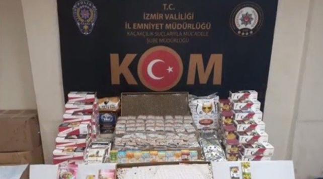 İzmirde 4 milyon 672 bin makaron ele geçirildi