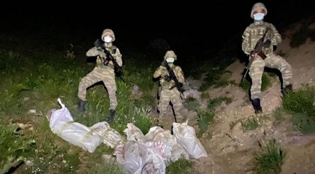 Hudut birlikleri 1 milyon TL değerinde tıbbi malzeme ele geçirdi