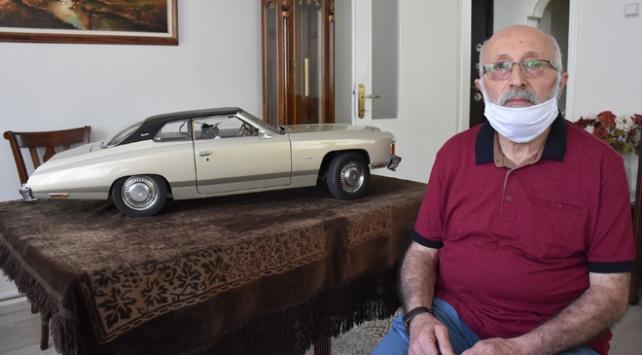 Kullandığı otomobilin minyatürünü 36 yılda tamamladı
