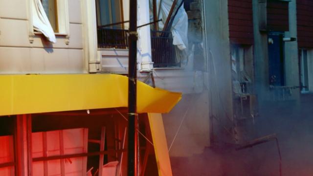 İstanbul'da tekstil atölyesindeki patlama anı kamerada