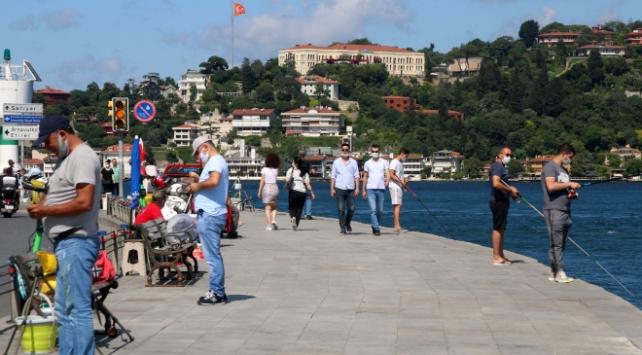 Sokak kısıtlamasının ardından İstanbulda sahil yoğunluğu