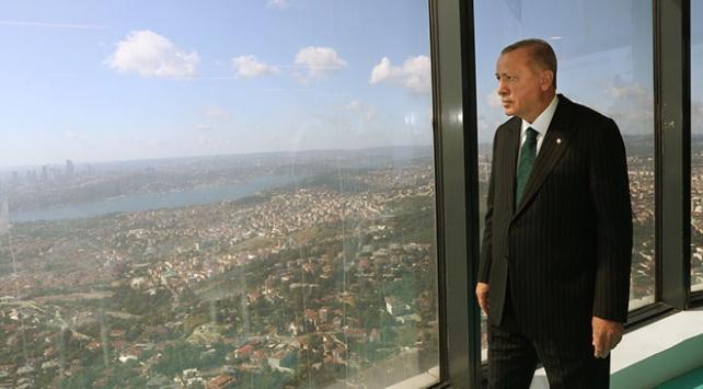 Cumhurbaşkanı Erdoğan Çamlıca Kulesini inceledi