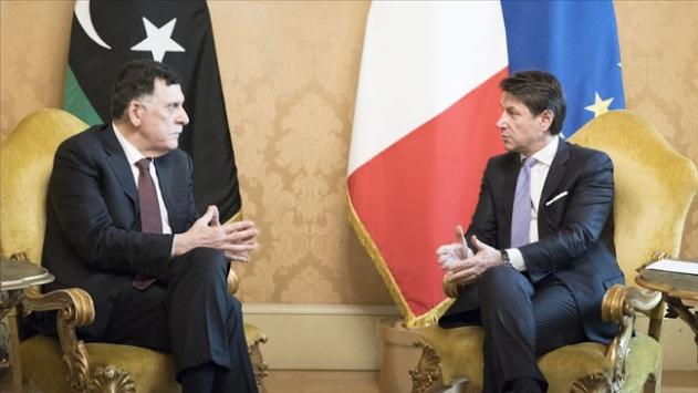 Libya Başbakanı Serrac, İtalyada Conte ile görüştü
