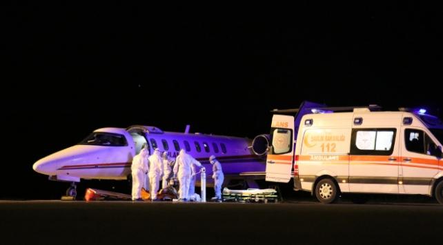 Ambulans uçak Rusyadaki 2 Türk için havalandı