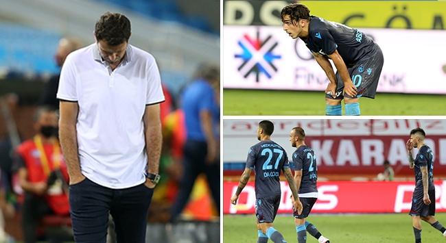 Trabzonsporda puan kayıpları sürüyor