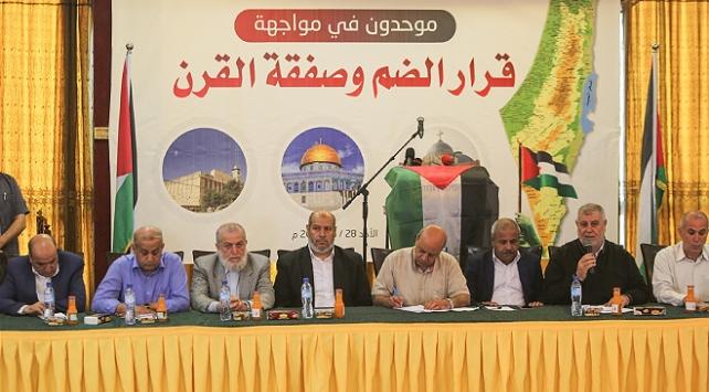 Filistinli gruplar, İsrailin ilhak planına karşı ulusal plan belirledi