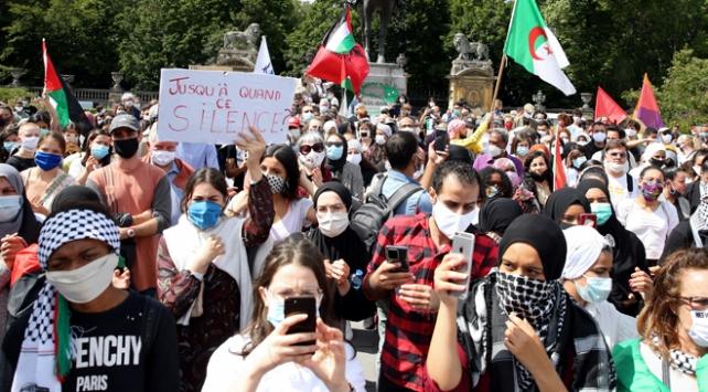 """İsrailin """"ilhak"""" planı Belçikada protesto edildi"""