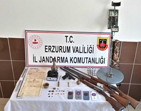 Erzurumda tarihi eser kaçakçılığı operasyonunda yakalanan 4 kişiden biri tutuklandı