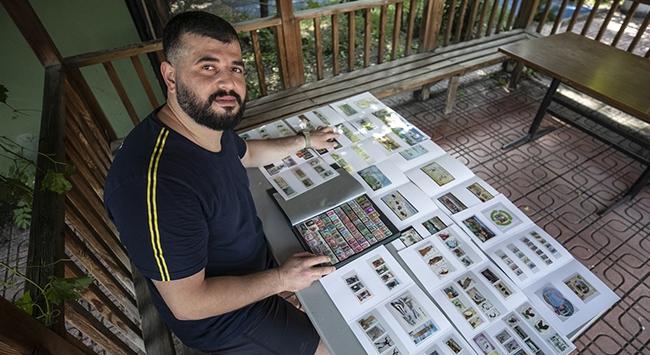 Milli çekiççi Özkan Baltacının hobisi pul koleksiyonu