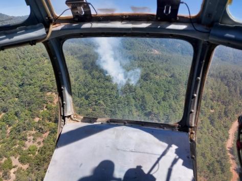Hatayda çıkan orman yangınına müdahale ediliyor