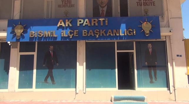 AK Parti Bismil İlçe Başkanlığı binasına molotofkokteylli saldırı
