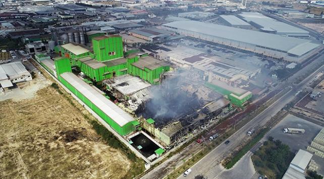 Adanada nişasta fabrikasındaki yangın söndürüldü