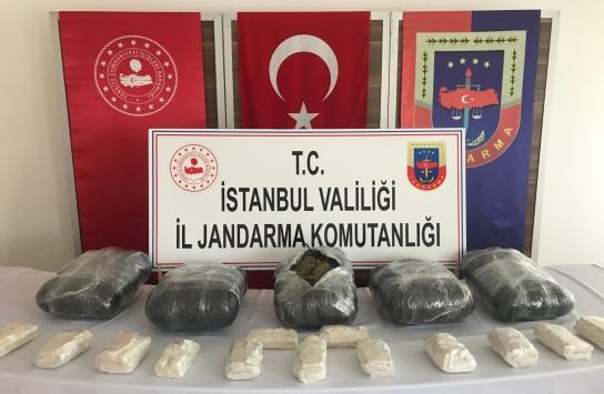 Jandarma operasyonunda 76 kilogram uyuşturucu madde ele geçirildi