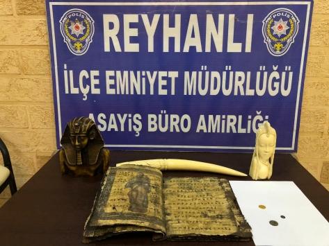 Hatayda tarihi eser kaçakçılığı operasyonunda 3 şüpheli yakalandı