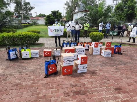 TİKAdan Güney Sudana Kovid-19la mücadeleye tıbbi ekipman desteği